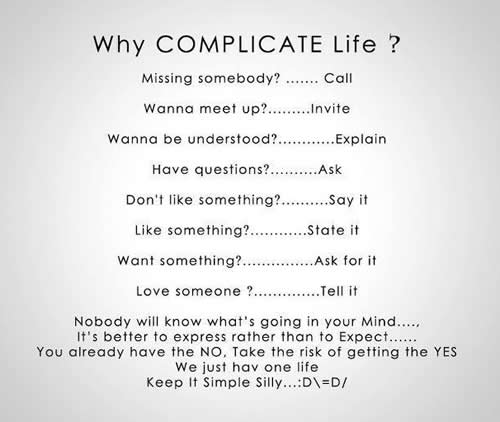 kompliziertes Leben