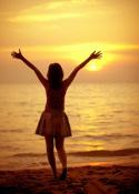 Sonne macht glücklich und ist gesund