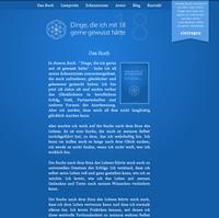 Webseite zum Buch Dinge die ich mit 18 gerne gewusst hätte